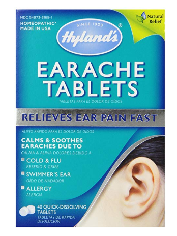 Hyland's Earache Tablets, Natural Relief of Cold & Flu Earaches