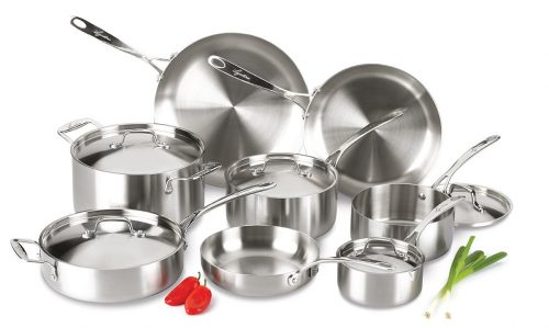Axia Tri-Ply Stainless Steel Dishwasher Safe Oven Safe Cookware Set, Stainless Steel Pot Sets