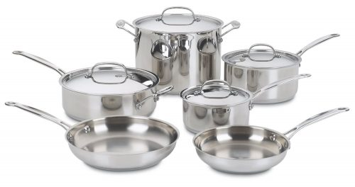 Chef's Classic Stainless Cookware Set, Stainless Steel Pot Sets