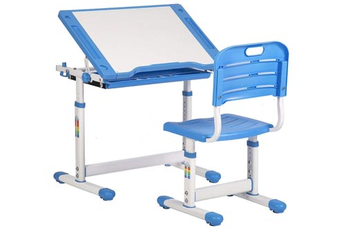 Height Adjustable Multifunctional Children's Study Desk Table Chair Set