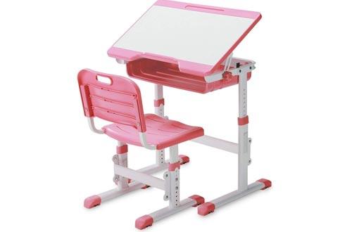 SLYPNOS Ergonomic Adjustable Children's Desk and Comfortable Chair Set