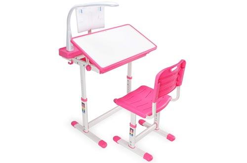 Kidzone Height Adjustable Multi-functional Children's Study Tilt Desktop Desk Table Chair Set