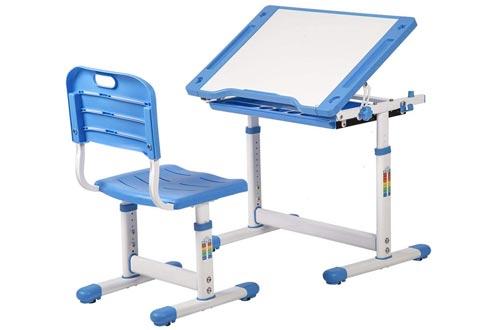BestMassage Children Desk Kids Study Child School Adjustable Height Children's Table Chair Set