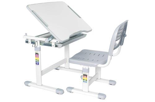 VIVO Height Adjustable Children Desks and Chair Set, Grey