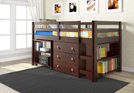 Donco Kids 760-CP Low Study Loft Bed