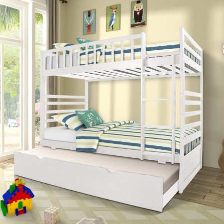 Merax Bunk Bed Twin bed with Trundle Bed
