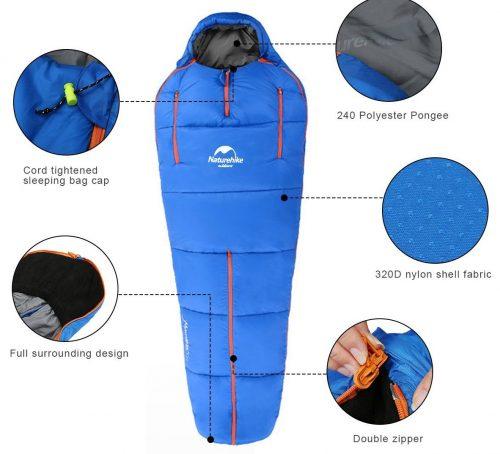 OUTERDO Camping Sleeping Bags Lightweight and Waterproof Heat