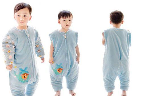 Quavey Winter Baby Sleeping Sack Cotton Wearable Blanket