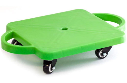 Kids Gym Class Plastic Scooter Board with Safety Guard Handles