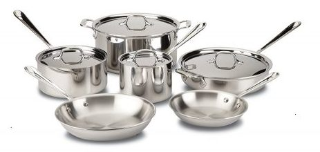 Stainless Steel Tri-Ply Bonded Dishwasher Safe Cookware Set, Stainless Steel Pot Sets