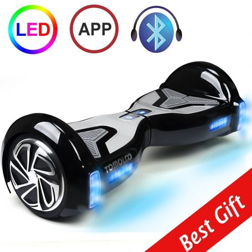 TOMOLOO Hoverboard with LED Light Two-wheel Self Balancing Scooter