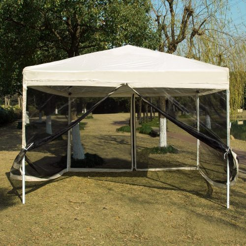 VIVOHOME Outdoor Easy Pop Up Canopy Screen Party Tent